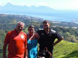 Françoise et Dominique Luc à Tahiti