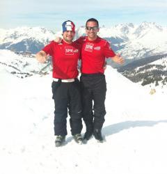Vos administrateurs du site Jérémie Froger et Anthony Pourre en vacances à La Plagne dans les Alpes (Mars 2012)