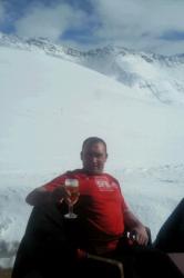 Edouard Marais au col de La Madeleine dans la station Alpine de Valmorel (mars 2012)