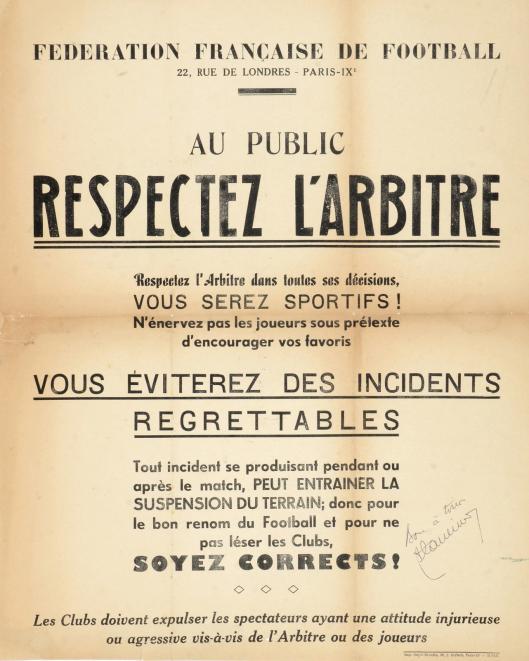 Respect arbitre
